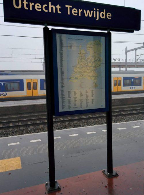 Mini Spoorkaart van Nederland Uit Nederland