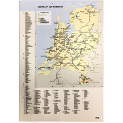 Mini Spoorkaart van Nederland Wonen