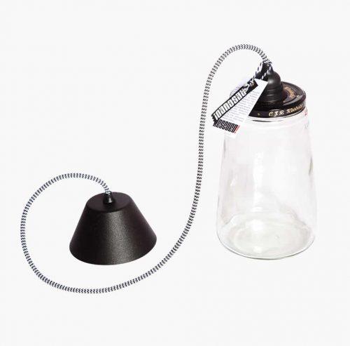 the Pickle Light black/white cord Verlichting