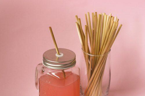 Duurzame drinkrietjes van stro Keukenspullen