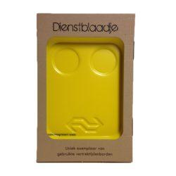 Dienstblaadje zonder opdruk (geel) Keukenspullen