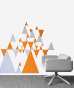 OPNIEUW! – Akoestische wandpaneel triangels (op maat) Uit Nederland