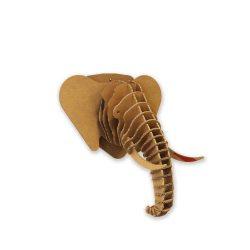 Kartonnen dierenhoofd – Olifant Kinderkamer