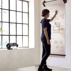 Vogelhuis met rol papier voor aan de muur Noteren