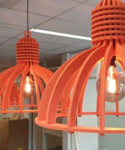 OPNIEUW! – Akoestische industrielamp (op maat) Uit Nederland