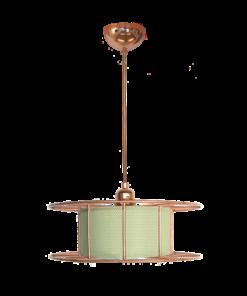 Tolhuijs Design, Hanglamp, spool, lasdraad, lamp, groen