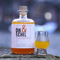 Dik en Schil, Orangecello, sinaasappel, glas