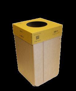 KarTent - Kartonnen 240L Kliko - Oranje Deksel - Duurzaam Karton