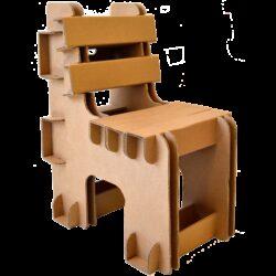 Duurzame Kartonnen Blok Stoel Kinderkamer