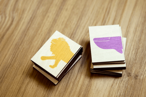 8 houten puzzeldiertjes Speelgoed