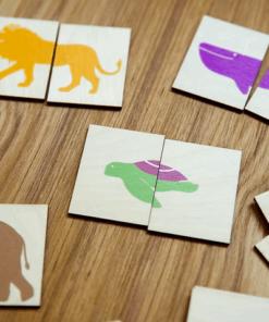 8 houten puzzeldiertjes Spelen