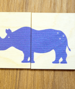 4 houten puzzeldiertjes Speelgoed