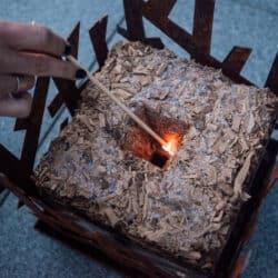 Haspencube Houtkaars (exclusief vuurkorf) Tuin