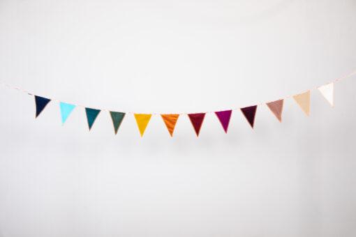 Vlaggenlijn – Rainbow Velvet Kinderkamer
