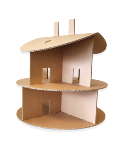 Kartonnen Poppenhuis Rond Speelgoed