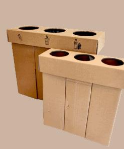 Kartonnen Trio Sorteer Prullenbak Handig