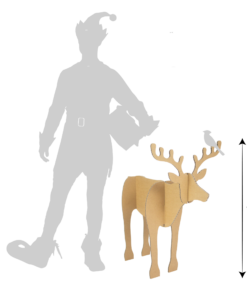 Set van 2 kartonnen Rendieren Speelgoed