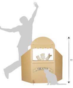Kartonnen Poppenkast Inclusief Speeldieren Speelgoed