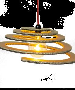 KarTent - Kartonnen Wanroij Hanglamp - Duurzaam Karton
